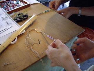 皆さんヘンプ編み初挑戦なので