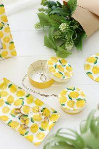 カピス貝のラウンドケース・レモン