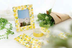 カピス貝のフォトフレーム・レモン