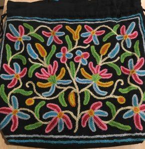 刺繍トートバッグ・ブラック
