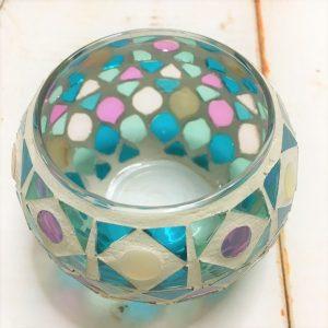 モザイクガラスホルダーボール・パープルブルー